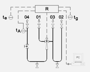 Schéma zapojení ejektor