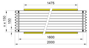 Rozmery KSP LED BASIC 2000