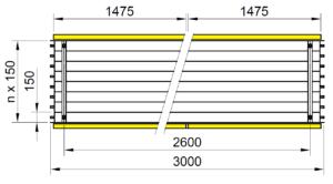 Rozmery KSP LED BASIC 3000
