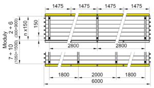 Rozmery KSP LED BASIC 6000