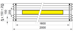 Rozměry KSP LED PREMIUM 2000