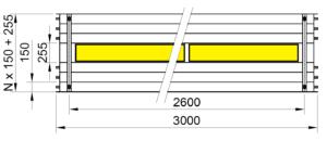 Rozměry KSP LED PREMIUM 3000