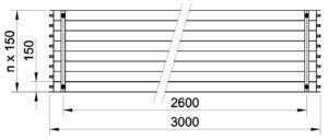 Půdorys KSP 3000 bw